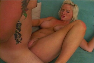 Hot Blond Slut Gets A Load In The Ass
