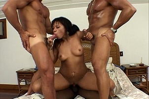Horny Beach Slut Banged By Three Guys