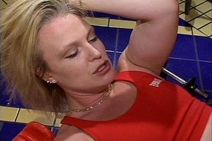 Sharon Wild Fucked With Strap-on At Gym