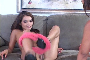 Horny Young MILF Lesbian Action