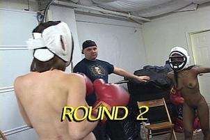 Interracial Naked Boxing Action