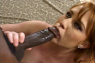 Lucy Fire Takes an Interracial Blowjob