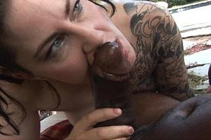 Punk Michelle Aston Loves Hot Black Meat