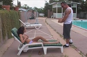 Layla Rivera Sucks And Fucks Poolside