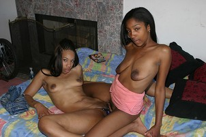 Hot Young Black Coeds Fuck With Strap-on