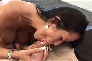 Busty Carmella Bing Sucks Her Man In POV
