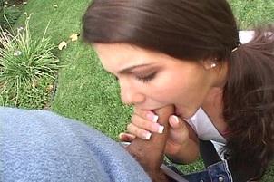 Carmella Spunked On Her Creamy Buttocks