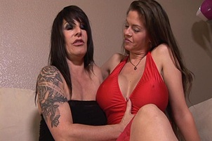 Busty June Summers Enjoys Lesbian Action