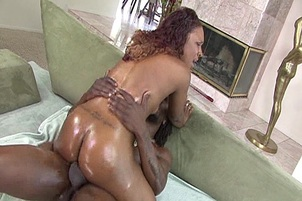 Black Tight Pussy Takes Big Cock