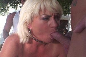 Dana Hayes Swallows Three Dirty Cumloads