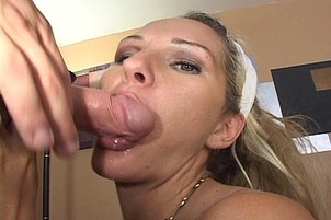 Heidi Brooks Takes Big Cumshot In Office