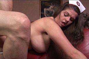 June Summers Spunks In Her Hirsute Poon