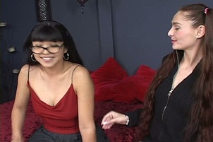 Mika And Alesha Play With Huge Dildos