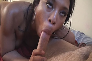 Ebony Bitches Share Dick In Hot Threesome Fuck
