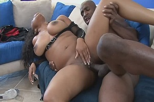 Black Beauty Stacie Lane Shows Rock Just How Hard He Can Get