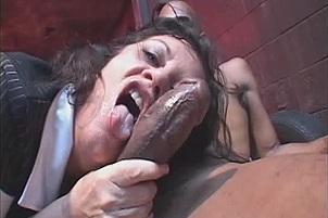 Brunette Lya Pink Sucks And Fucks Two Big Cocks