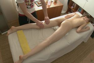 Skinny Petite Teen Massaged And Fucked From Behind