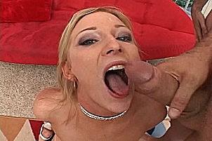 Blonde Babe Alexxa Lynn Fucked In Gang Bang