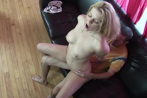 Johnny Thrust And Kodi Make Passionate Love In Bed